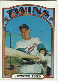 1972 Topps Baseball Cards      051      Harmon Killebrew