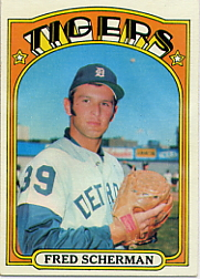 1972 Topps Baseball Cards      006       Fred Scherman