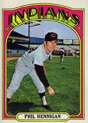 1972 Topps Baseball Cards      748     Phil Hennigan