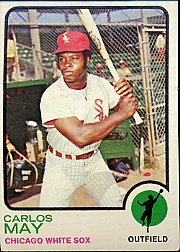 1973 Topps Baseball Cards      105     Carlos May