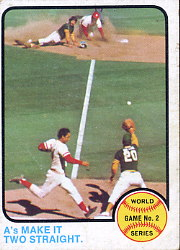 1973 Topps Baseball Cards      204     A's Two Straight WS