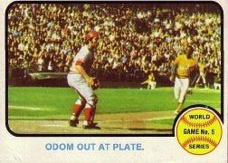 1973 Topps Baseball Cards      207     Blue Moon Odom Johnny Bench WS