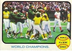 1973 Topps Baseball Cards      210     A's Win WS