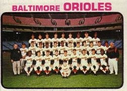 1973 Topps Baseball Cards      278     Baltimore Orioles TC