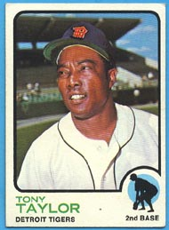1973 Topps Baseball Cards      029      Tony Taylor