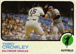 1973 Topps Baseball Cards      302     Terry Crowley