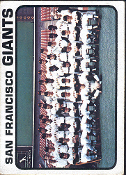 1973 Topps Baseball Cards      434     San Francisco Giants TC