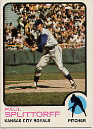 1973 Topps Baseball Cards      048      Paul Splittorff