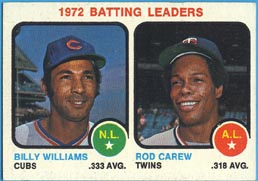 1973 Topps Baseball Cards      061      Billy Williams/Rod Carew LL