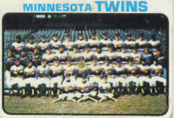 1973 Topps Baseball Cards      654     Minnesota Twins TC