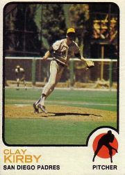 1973 Topps Baseball Cards      655     Clay Kirby