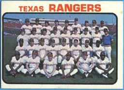 1973 Topps Baseball Cards      007       Texas Rangers TC