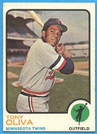 1973 Topps Baseball Cards      080      Tony Oliva UER