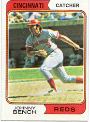 1974 Topps Baseball Cards      010      Johnny Bench