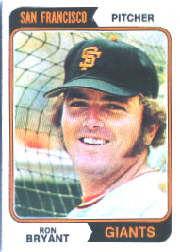 1974 Topps Baseball Cards      104     Ron Bryant
