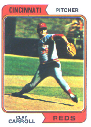 1974 Topps Baseball Cards      111     Clay Carroll