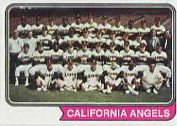 1974 Topps Baseball Cards      114     California Angels TC