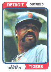 1974 Topps Baseball Cards      115     Willie Horton