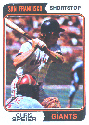 1974 Topps Baseball Cards      129     Chris Speier