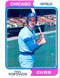 1974 Topps Baseball Cards      014      Paul Popovich
