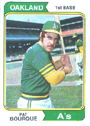 1974 Topps Baseball Cards      141     Pat Bourque