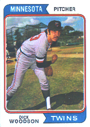1974 Topps Baseball Cards      143     Dick Woodson