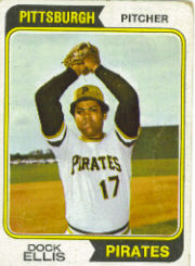 1974 Topps Baseball Cards      145     Dock Ellis