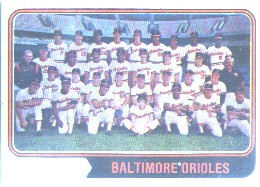 1974 Topps Baseball Cards      016      Baltimore Orioles TC