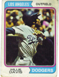 1974 Topps Baseball Cards      165     Willie Davis