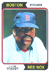 1974 Topps Baseball Cards      167     Luis Tiant