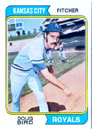 1974 Topps Baseball Cards      017      Doug Bird RC