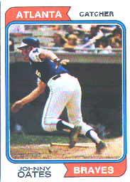 1974 Topps Baseball Cards      183     Johnny Oates