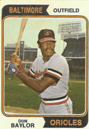 1974 Topps Baseball Cards      187     Don Baylor