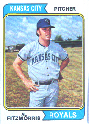 1974 Topps Baseball Cards      191     Al Fitzmorris