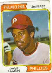 1974 Topps Baseball Cards      198     Dave Cash