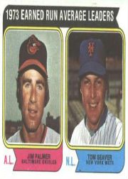 1974 Topps Baseball Cards      206     Jim Palmer/Tom Seaver LL