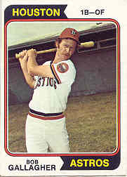 1974 Topps Baseball Cards      021      Bob Gallagher RC