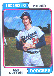 1974 Topps Baseball Cards      220     Don Sutton