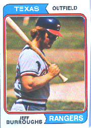1974 Topps Baseball Cards      223     Jeff Burroughs