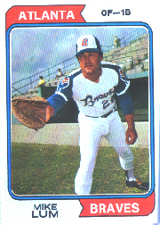 1974 Topps Baseball Cards      227     Mike Lum