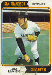 1974 Topps Baseball Cards      233     Jim Barr