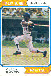 1974 Topps Baseball Cards      245     Cleon Jones
