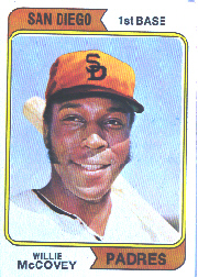 1974 Topps Baseball Cards      250A    Willie McCovey SD