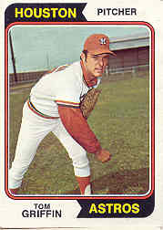1974 Topps Baseball Cards      256     Tom Griffin