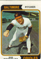 1974 Topps Baseball Cards      259     Bob Reynolds