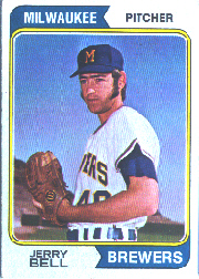 1974 Topps Baseball Cards      261     Jerry Bell