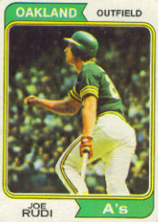 1974 Topps Baseball Cards      264     Joe Rudi