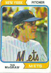 1974 Topps Baseball Cards      265     Tug McGraw