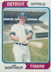 1974 Topps Baseball Cards      266     Jim Northrup