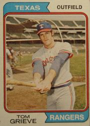1974 Topps Baseball Cards      268     Tom Grieve